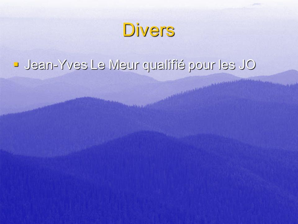 Divers Jean-Yves Le Meur qualifié pour les JO Jean-Yves Le Meur qualifié pour les JO