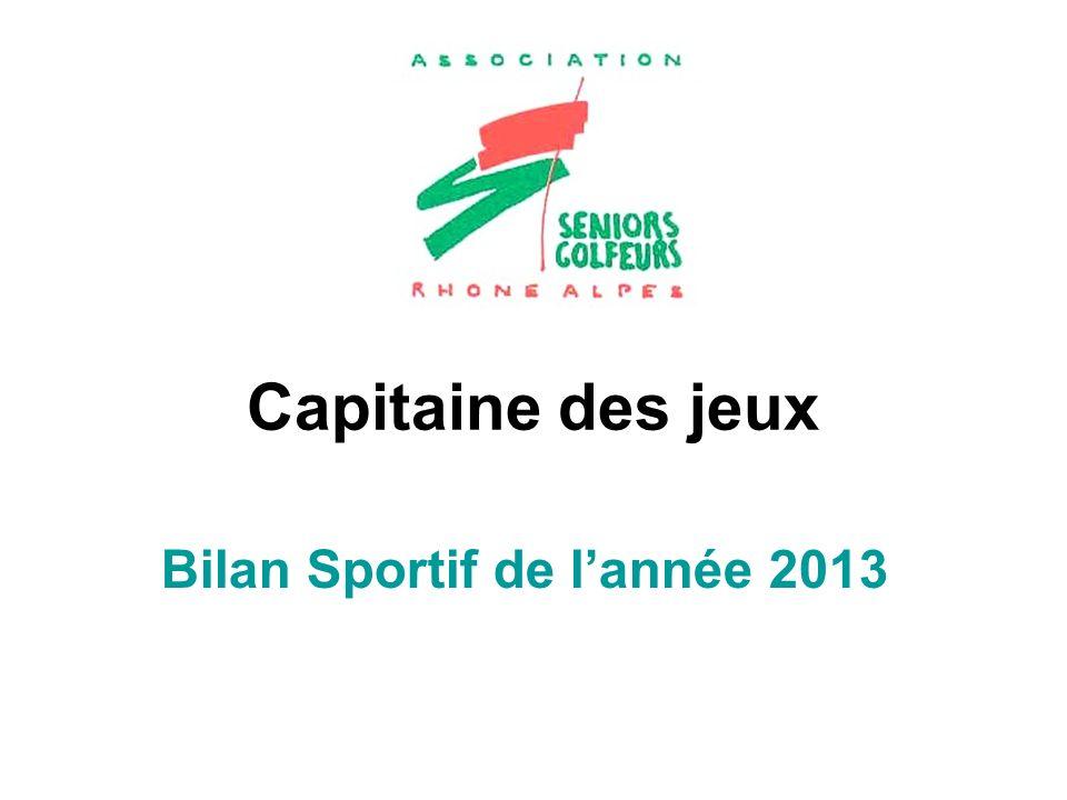Capitaine des jeux Bilan Sportif de lannée 2013