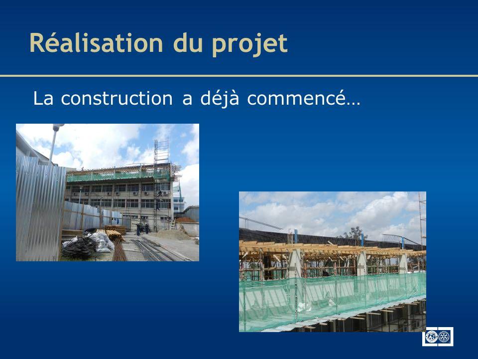 Réalisation du projet La construction a déjà commencé…