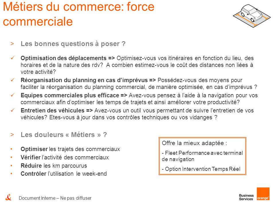 Métiers du commerce: force commerciale >Les bonnes questions à poser ? Optimisation des déplacements => Optimisez-vous vos itinéraires en fonction du