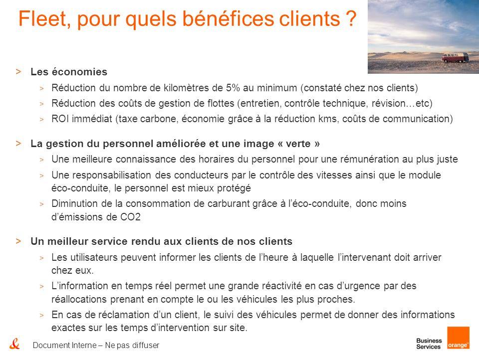 Document Interne – Ne pas diffuser Fleet, pour quels bénéfices clients ? >Les économies > Réduction du nombre de kilomètres de 5% au minimum (constaté