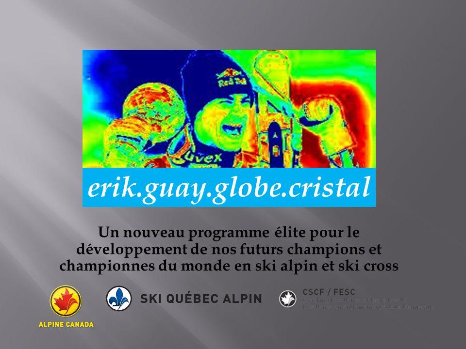 Un nouveau programme élite pour le développement de nos futurs champions et championnes du monde en ski alpin et ski cross erik.guay.globe.cristal