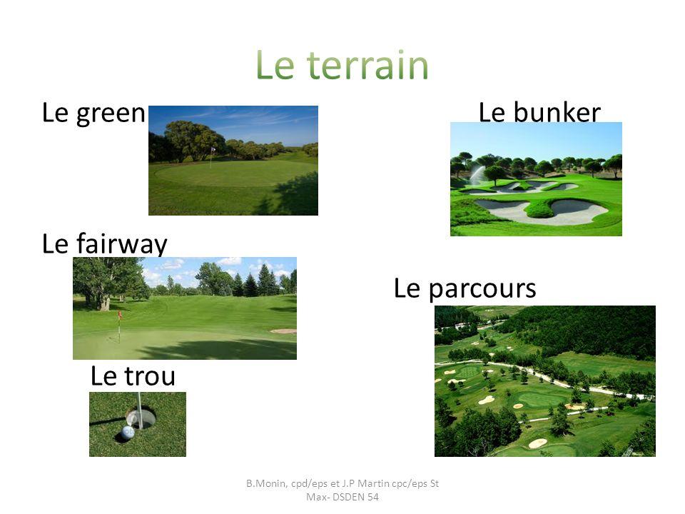 Le green Le bunker Le fairway Le parcours Le trou B.Monin, cpd/eps et J.P Martin cpc/eps St Max- DSDEN 54