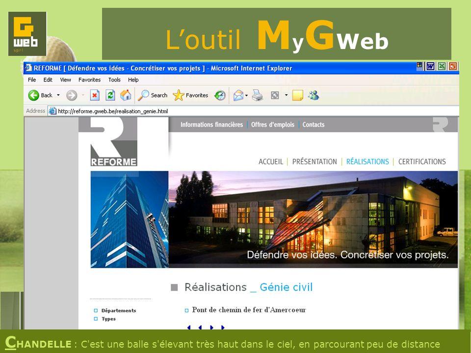 Loutil M y G Web C HANDELLE : C est une balle s élevant très haut dans le ciel, en parcourant peu de distance