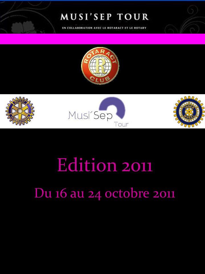 PARTIE 2: La Tournée Une Aventure Témoignages Carole De Mulatier – Responsable de la Communication UNISEP: 10 000 euros remis par les roctariens à l UNISEP grâce à leur action Musi SEP 2010 .