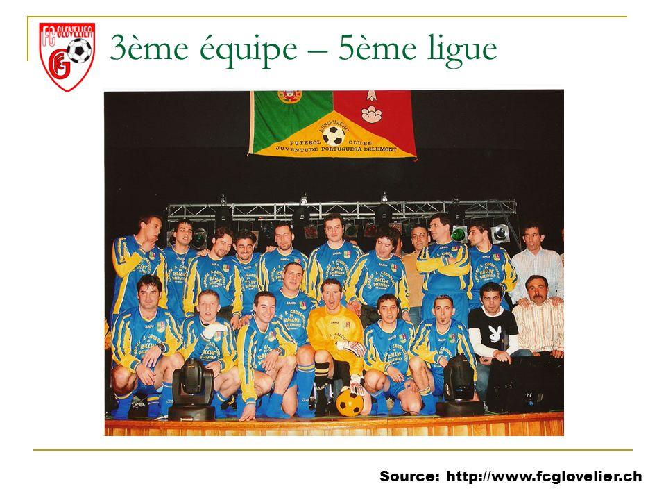 Source: http://www.fcglovelier.ch 3ème équipe – 5ème ligue