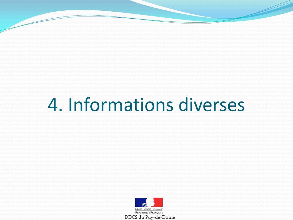 4. Informations diverses DDCS du Puy-de-Dôme