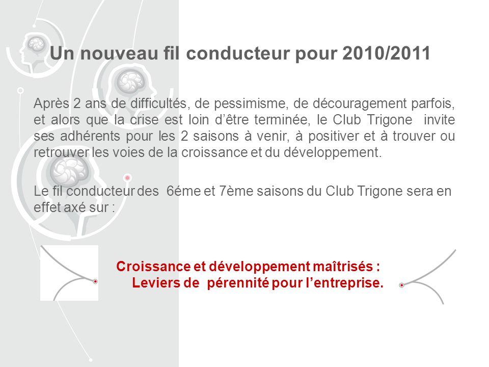 Après 2 ans de difficultés, de pessimisme, de découragement parfois, et alors que la crise est loin dêtre terminée, le Club Trigone invite ses adhérents pour les 2 saisons à venir, à positiver et à trouver ou retrouver les voies de la croissance et du développement.