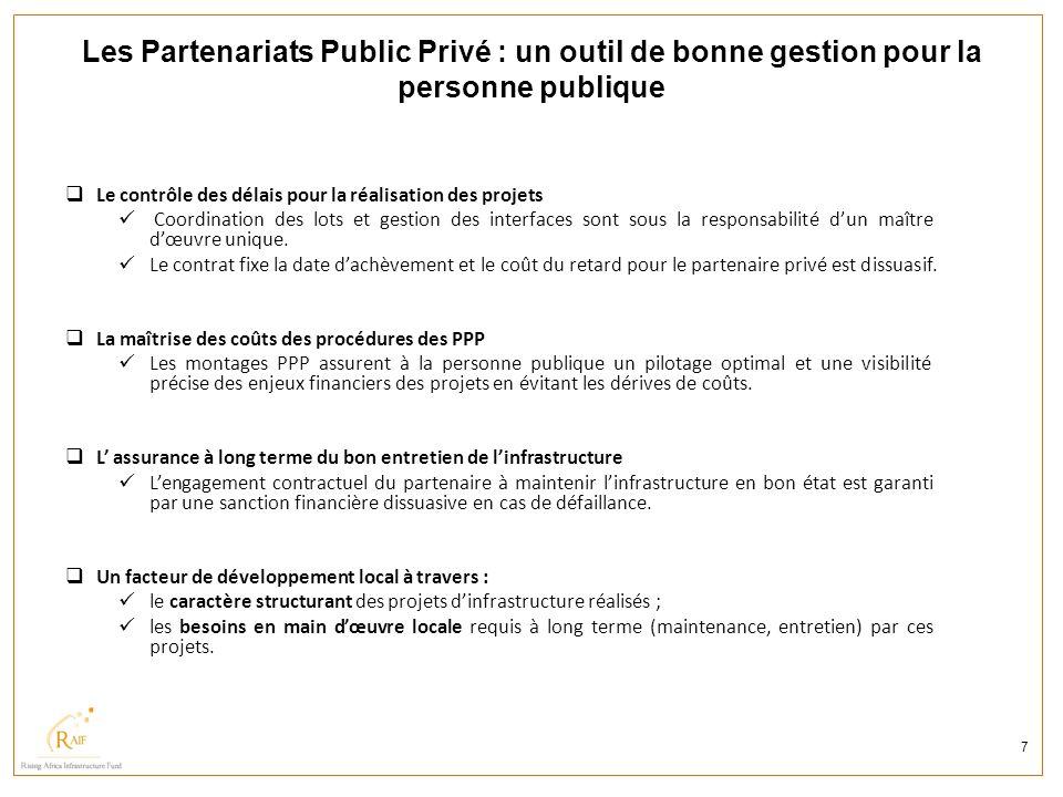 Les Partenariats Public Privé : un outil de bonne gestion pour la personne publique 7 Le contrôle des délais pour la réalisation des projets Coordinat