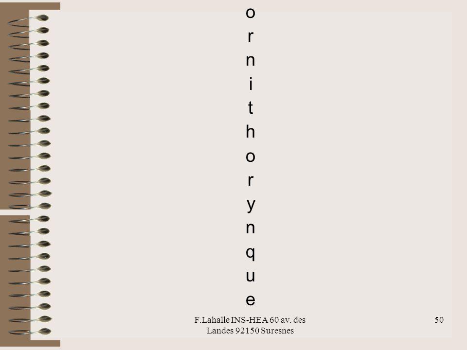 F.Lahalle INS-HEA 60 av. des Landes 92150 Suresnes 50 ornithorynqueornithorynque