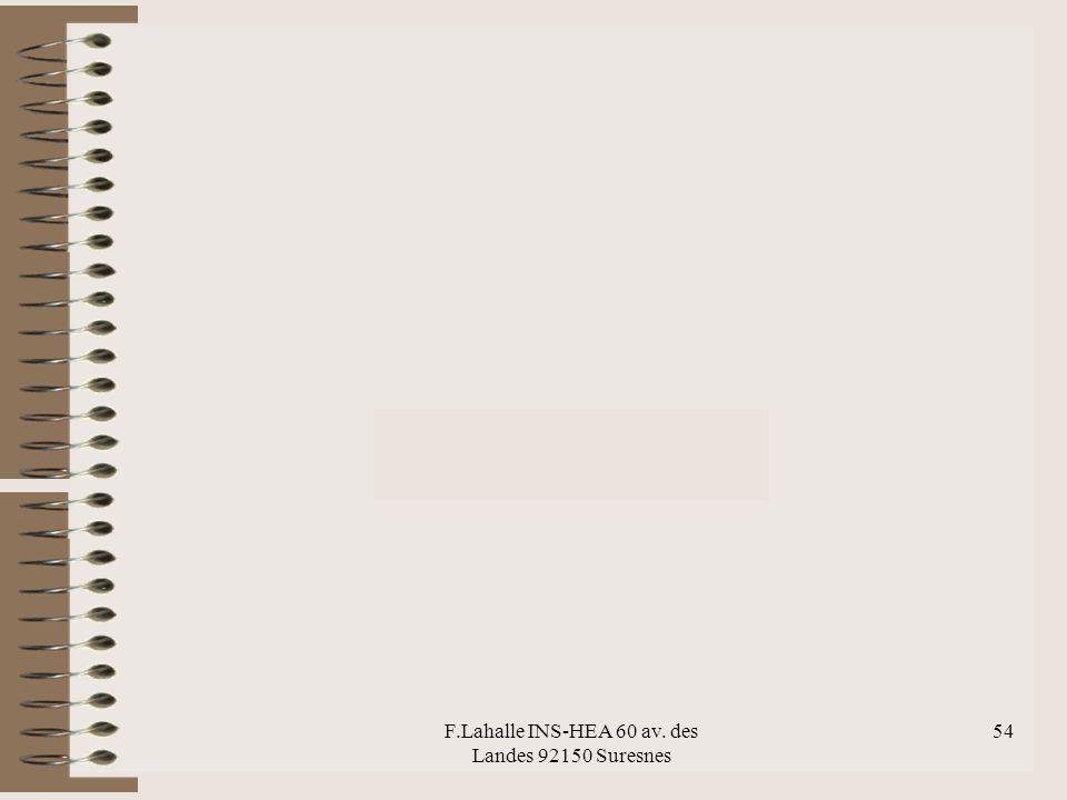 F.Lahalle INS-HEA 60 av. des Landes 92150 Suresnes 54 bouleversement