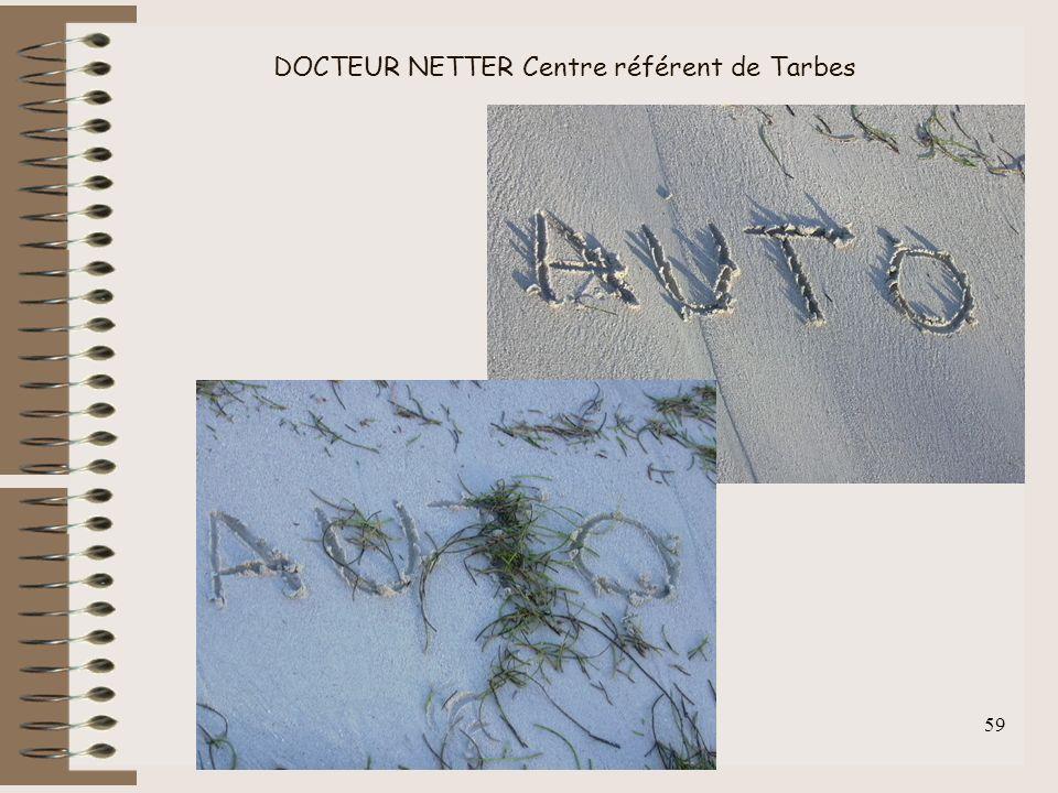 F.Lahalle INS-HEA 60 av. des Landes 92150 Suresnes 59 DOCTEUR NETTER Centre référent de Tarbes