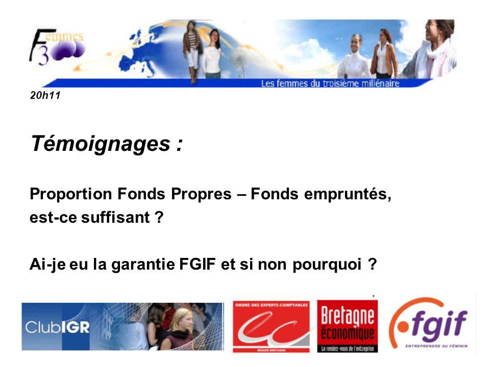 20h11 Témoignages : Proportion Fonds Propres – Fonds empruntés, est-ce suffisant .