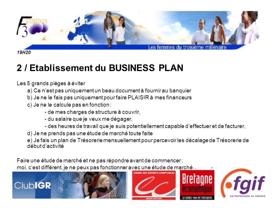 19H30 Témoignages : Quelles difficultés ai-je rencontré pour établir mon Business Plan ?
