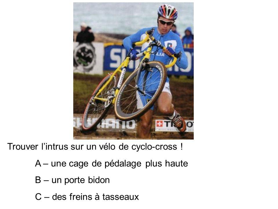 Trouver lintrus sur un vélo de cyclo-cross .