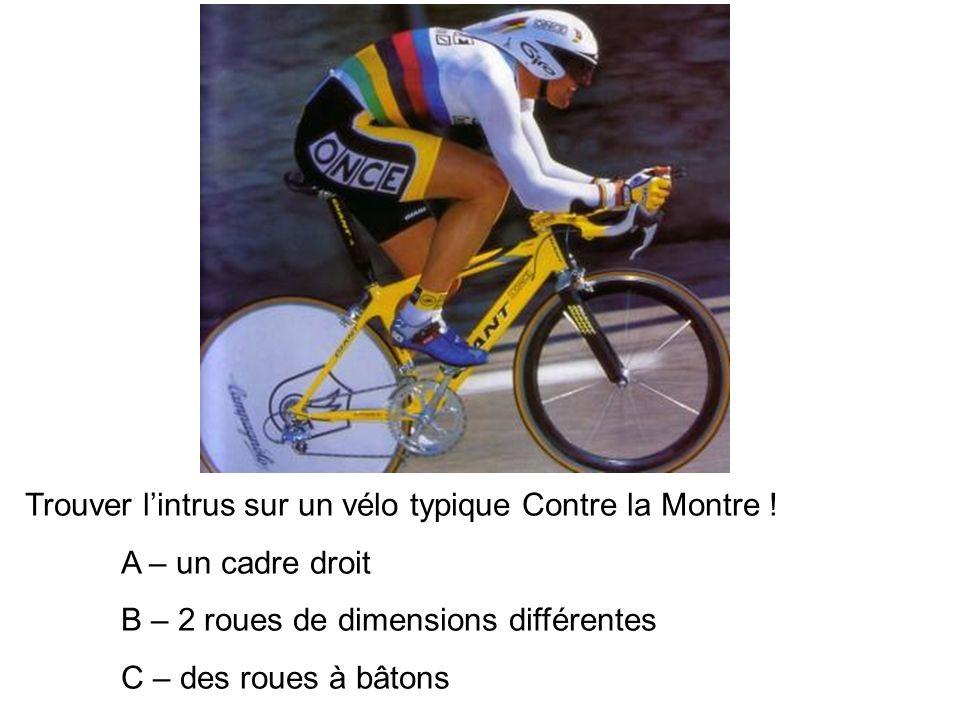 Trouver lintrus sur un vélo typique Contre la Montre .