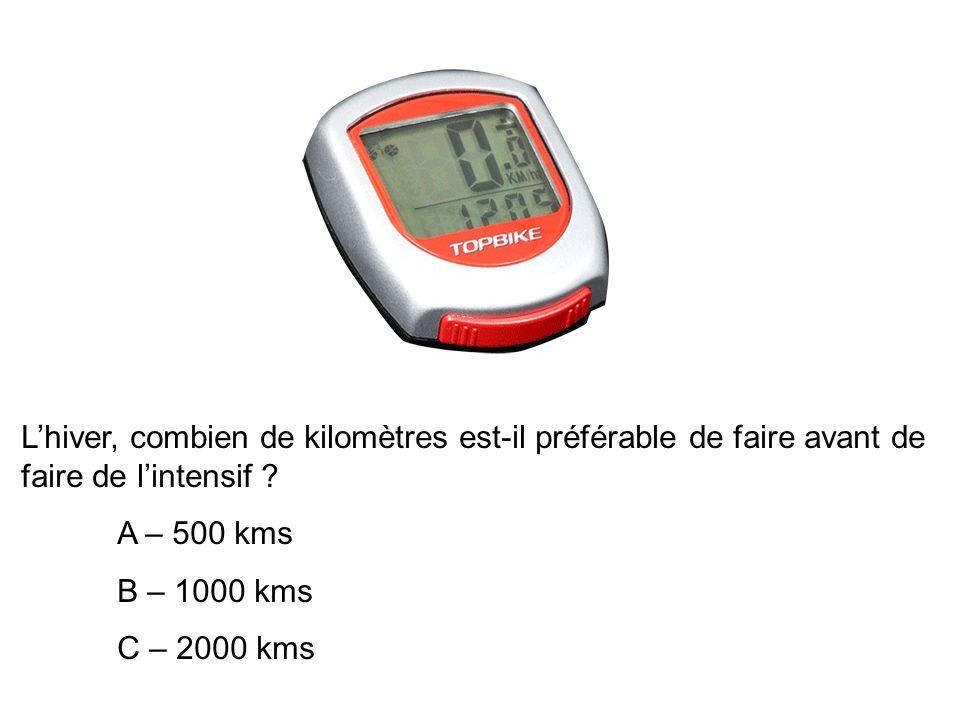 Lhiver, combien de kilomètres est-il préférable de faire avant de faire de lintensif .