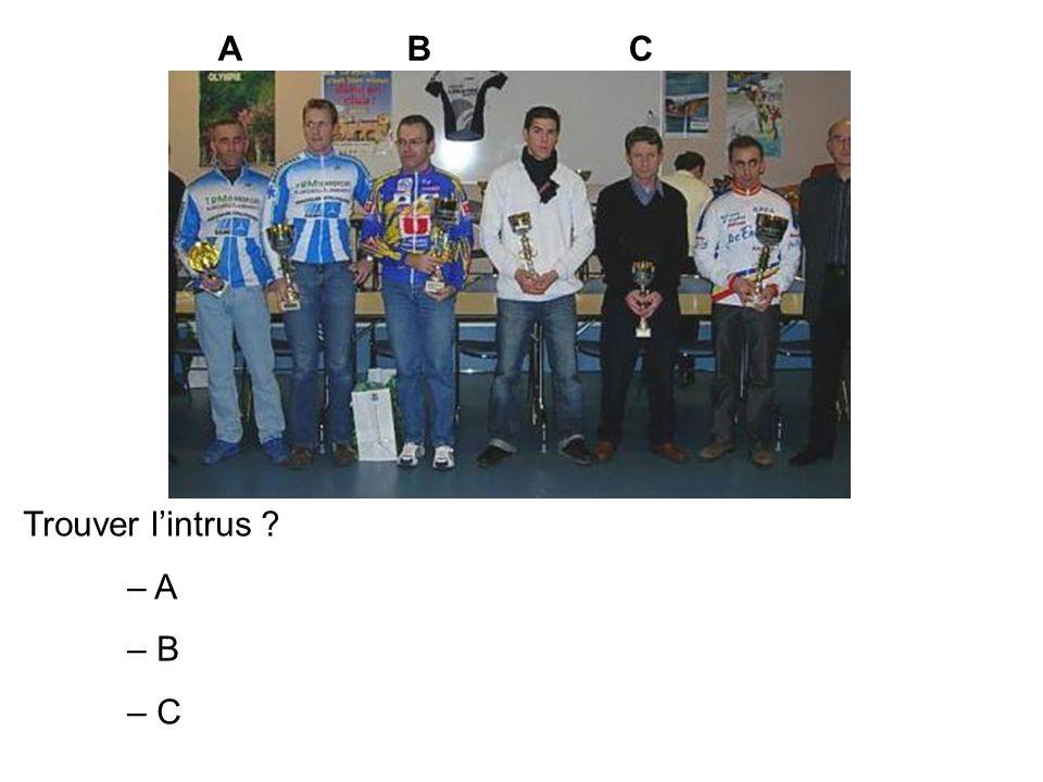 Trouver lintrus ? – A – B – C ABC