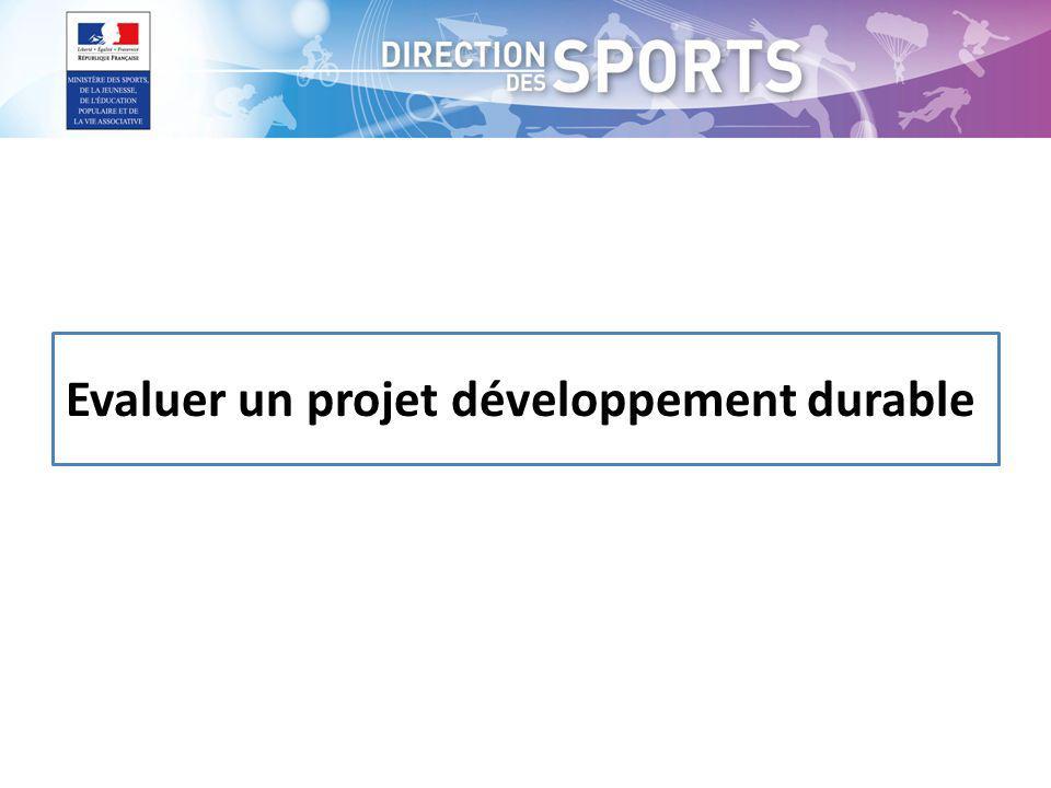 Evaluer un projet développement durable