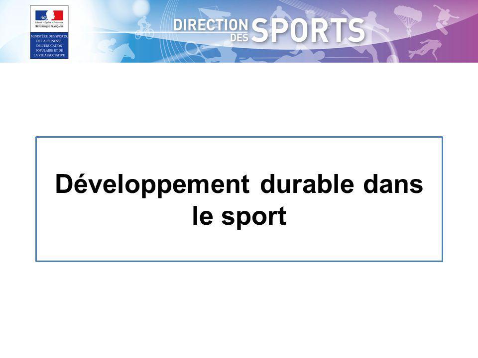 Développement durable dans le sport