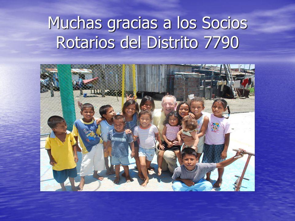 Muchas gracias a los Socios Rotarios del Distrito 7790