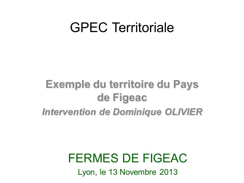 GPEC Territoriale Exemple du territoire du Pays de Figeac Intervention de Dominique OLIVIER FERMES DE FIGEAC Lyon, le 13 Novembre 2013