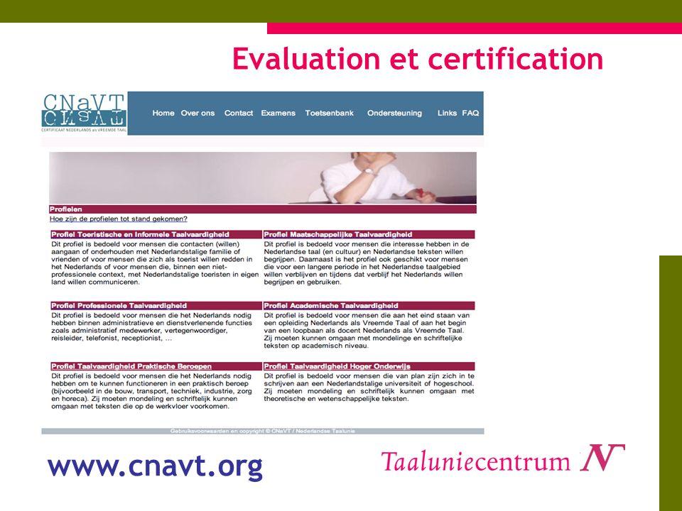 Evaluation et certification www.cnavt.org