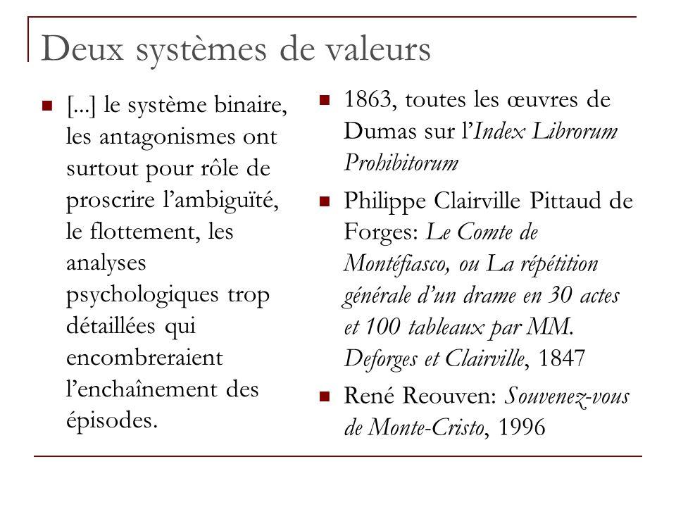 Deux systèmes de valeurs [...] le système binaire, les antagonismes ont surtout pour rôle de proscrire lambiguïté, le flottement, les analyses psychol