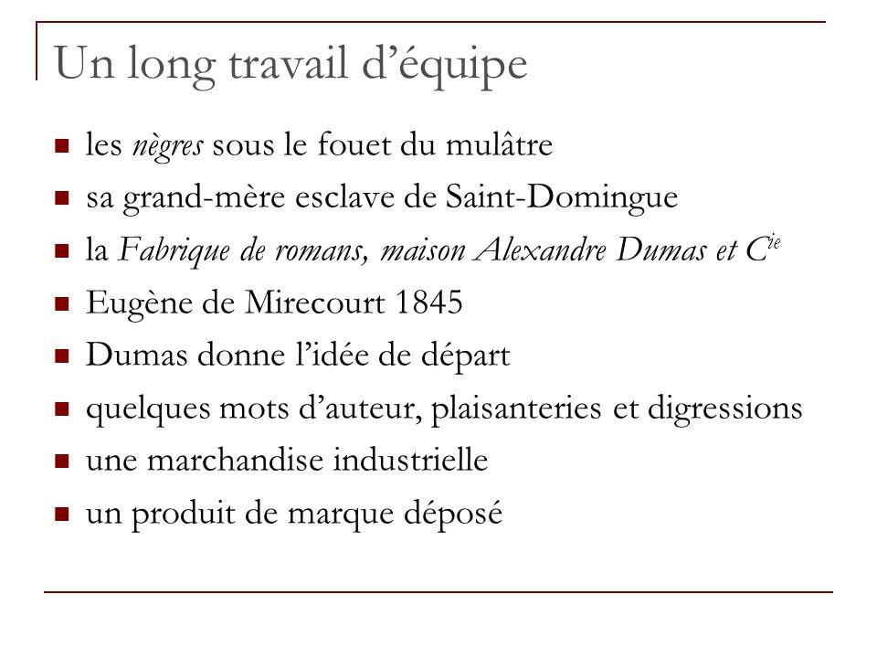Un long travail déquipe les nègres sous le fouet du mulâtre sa grand-mère esclave de Saint-Domingue la Fabrique de romans, maison Alexandre Dumas et C