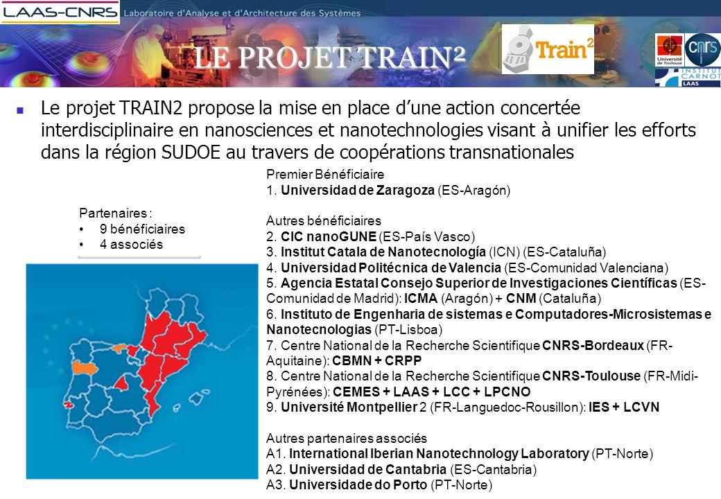 LE PROJET TRAIN² Le projet TRAIN2 propose la mise en place dune action concertée interdisciplinaire en nanosciences et nanotechnologies visant à unifi