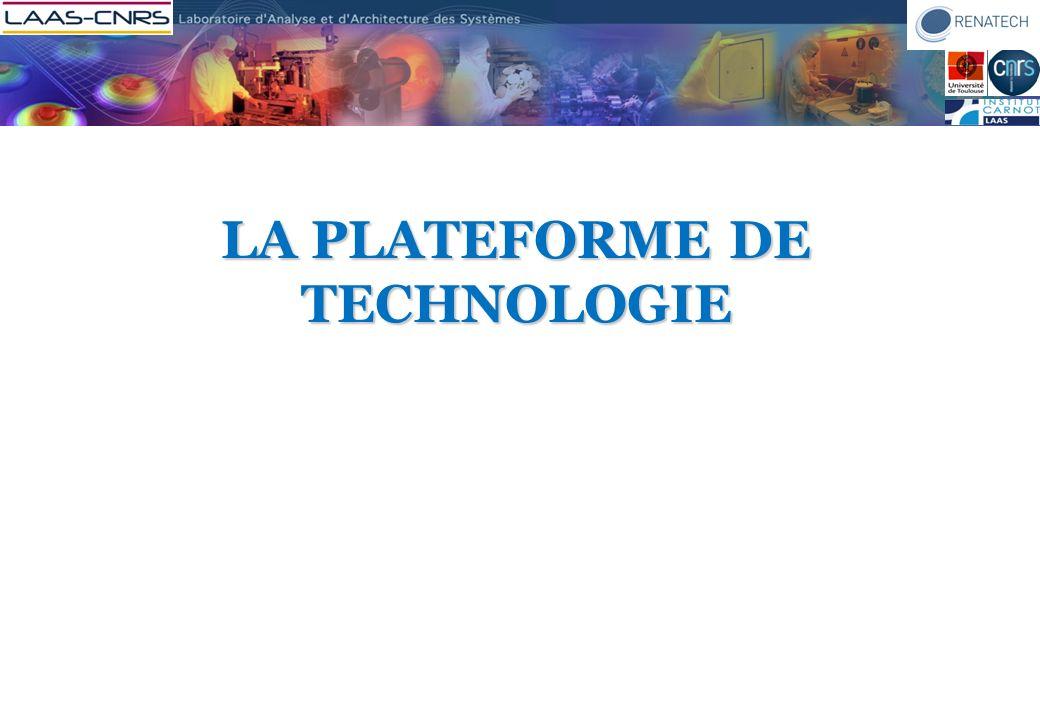 HISTORIQUE Troisième génération de centrale de technologie au LAAS La première en milieu académique en France 1968 : salle propre 2005-2007 : plateforme de technologie 1978 : salle blanche