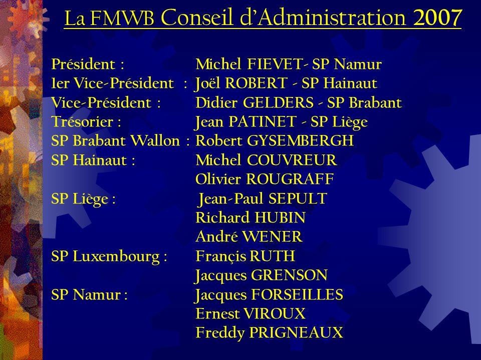 La FMWB La FMWB Conseil dAdministration 2007