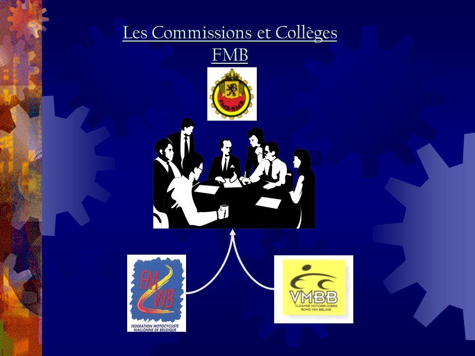Les Commissions et Collèges FMB