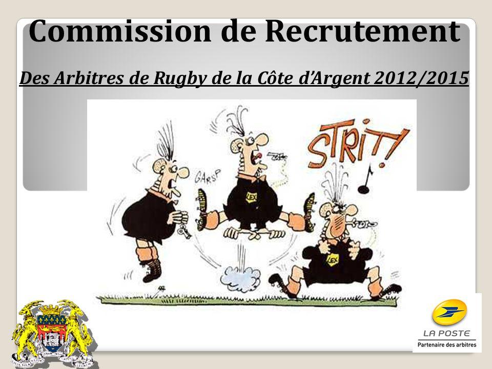 Commission de Recrutement Des Arbitres de Rugby de la Côte dArgent 2012/2015