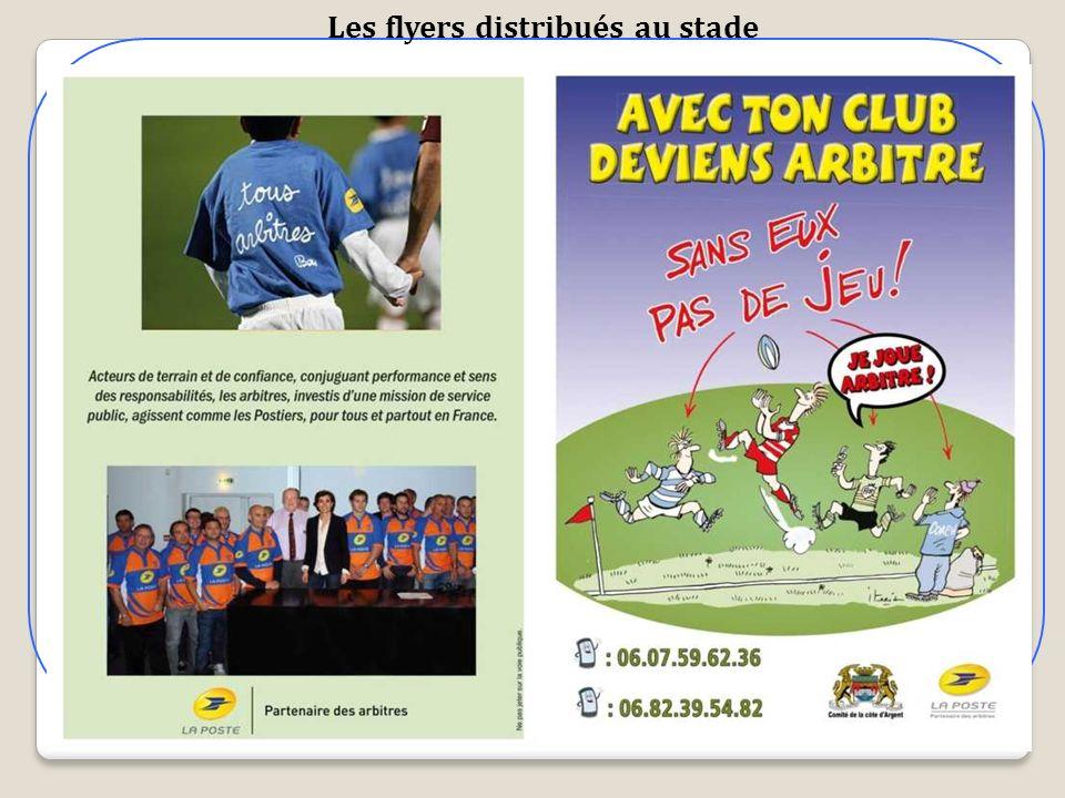 Les flyers distribués au stade