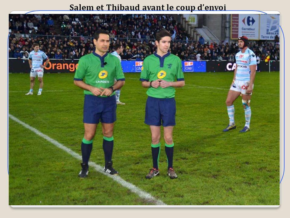 Salem et Thibaud avant le coup denvoi