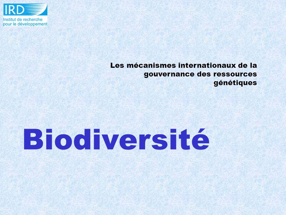 Biodiversité Les mécanismes internationaux de la gouvernance des ressources génétiques