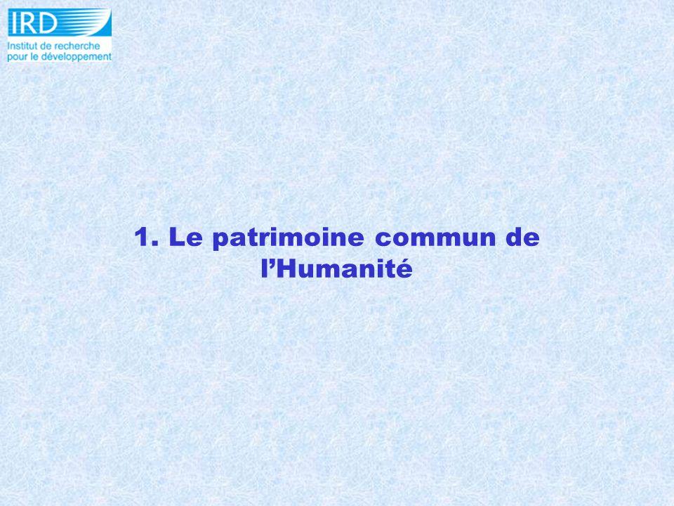 1. Le patrimoine commun de lHumanité