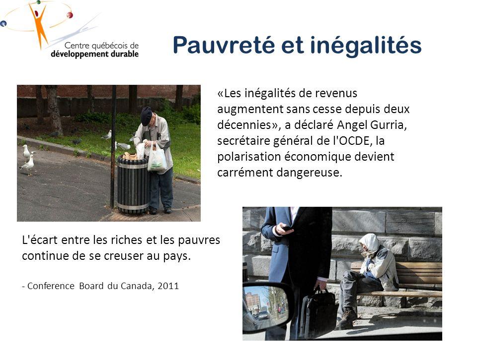 «Les inégalités de revenus augmentent sans cesse depuis deux décennies», a déclaré Angel Gurria, secrétaire général de l OCDE, la polarisation économique devient carrément dangereuse.