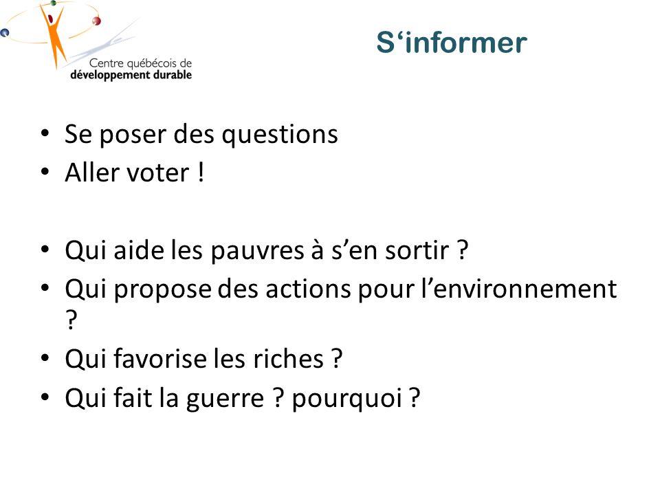 Se poser des questions Aller voter .Qui aide les pauvres à sen sortir .