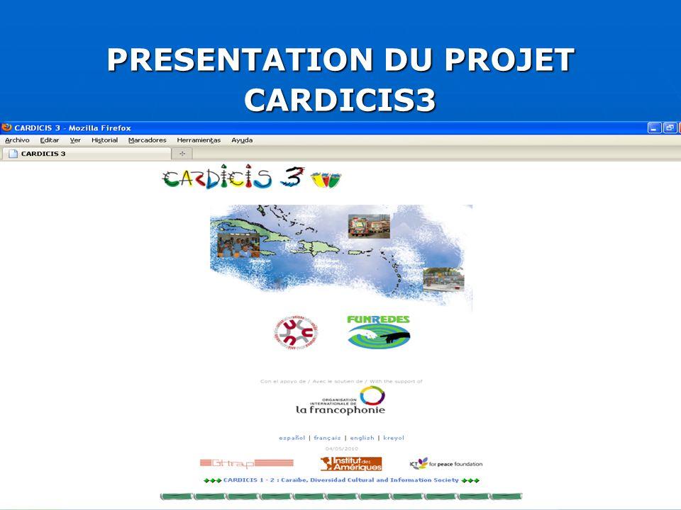 Objectifs du projet CARDICIS III SE PRÉOCCUPER DES DÉFIS DE LA RECONSTRUCTION