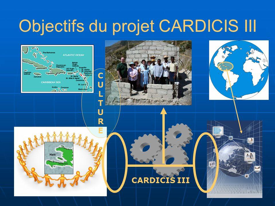 Objectifs du projet CARDICIS III CARDICIS III CULTURECULTURE