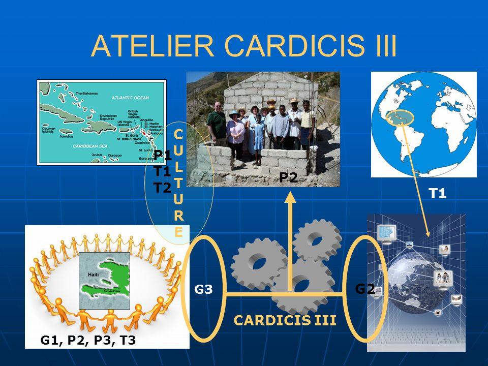 ATELIER CARDICIS III G2 G3 CARDICIS III CULTURECULTURE G1, P2, P3, T3 P1 T1 T2 T1 P2