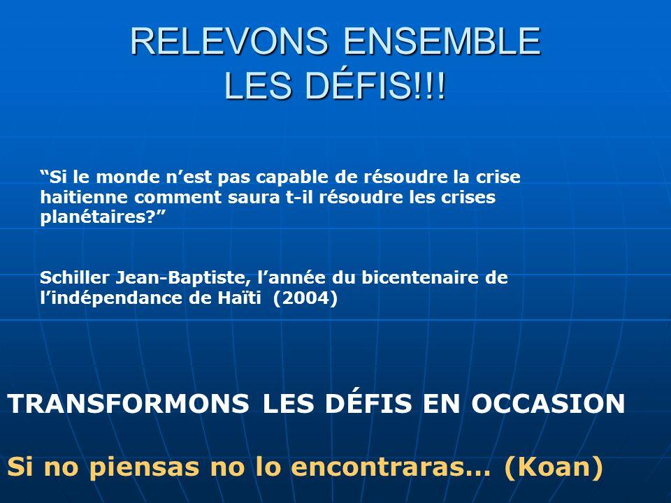 RELEVONS ENSEMBLE LES DÉFIS!!.