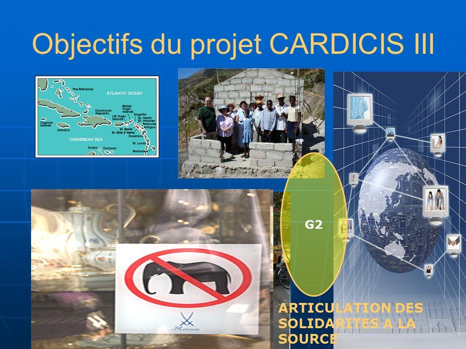 Objectifs du projet CARDICIS III ARTICULATION DES SOLIDARITES A LA SOURCE QUI A PRIS LA MANIVELLE.