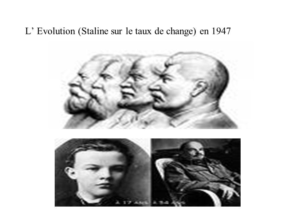 L Evolution (Staline sur le taux de change) en 1947