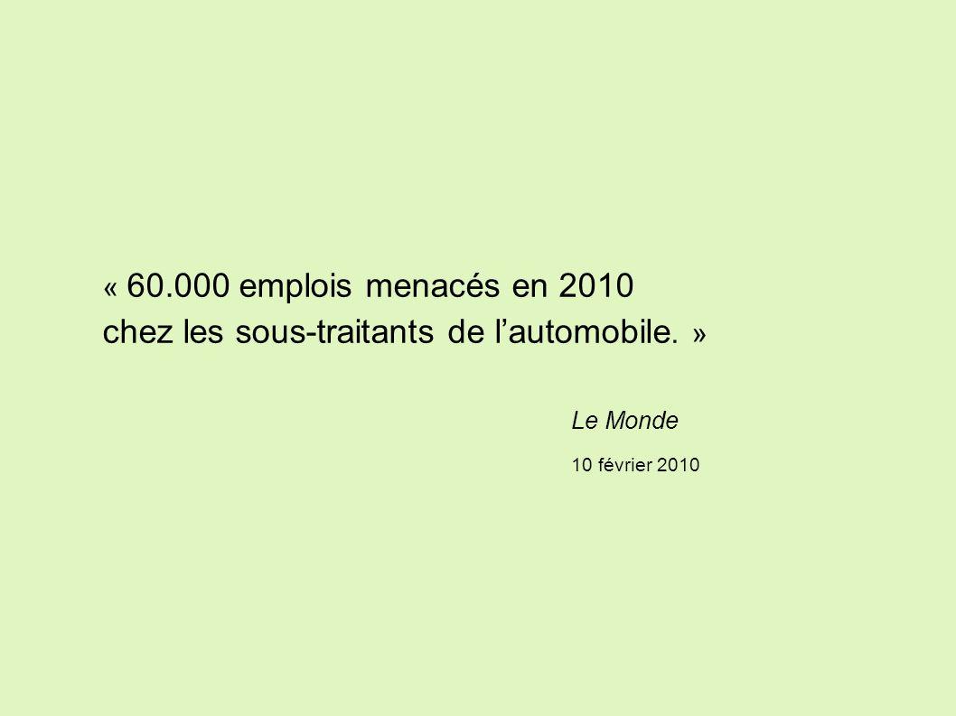 La dette, substitut aux revenus du travail Source : OCDE 2008