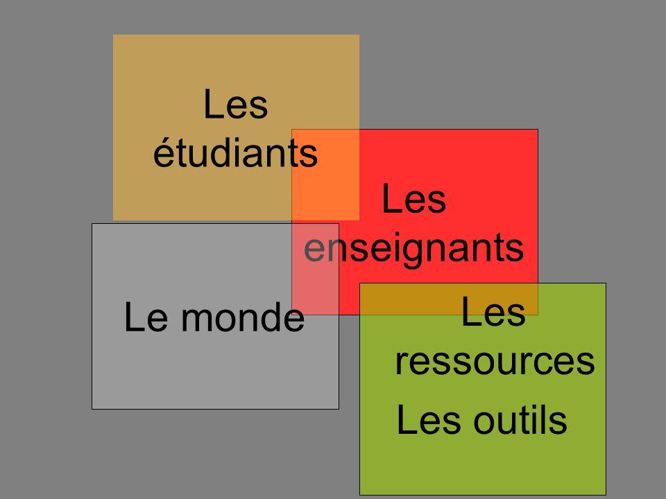 Les enseignants Le monde Les étudiants Les ressources Les outils