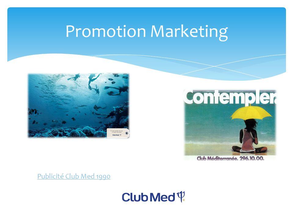 Promotion Marketing Publicité Club Med 1990