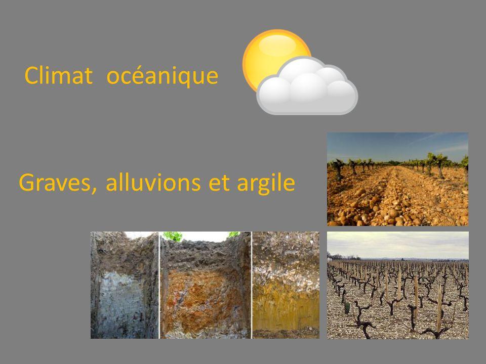 Climat océanique Graves, alluvions et argile